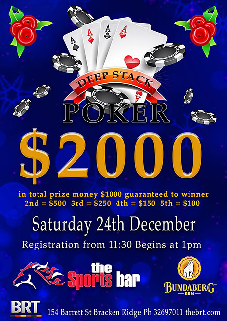$2000 Christmas Eve Poker Event
