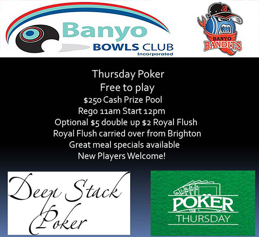 Banyo Bowls Club Thursday Poker Brisbane