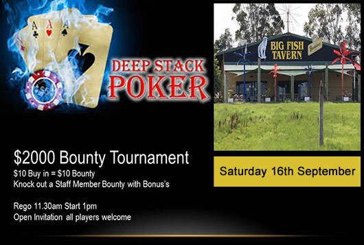 2k Poker Bounty Tournament Big Fish Tavern