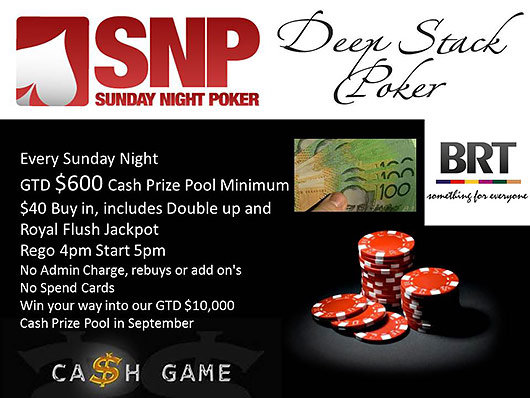 Bracken Ridge Tavern Pro Poker Sunday
