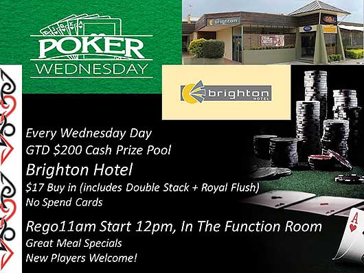 Brighton Hotel Wednesday Poker Brisbane
