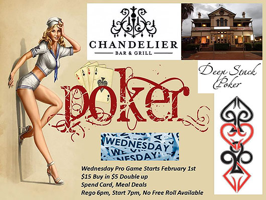 Chandelier Bar & Grill Pro Poker Wednesday