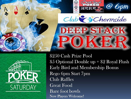 Club Chermside Poker Saturday Brisbane