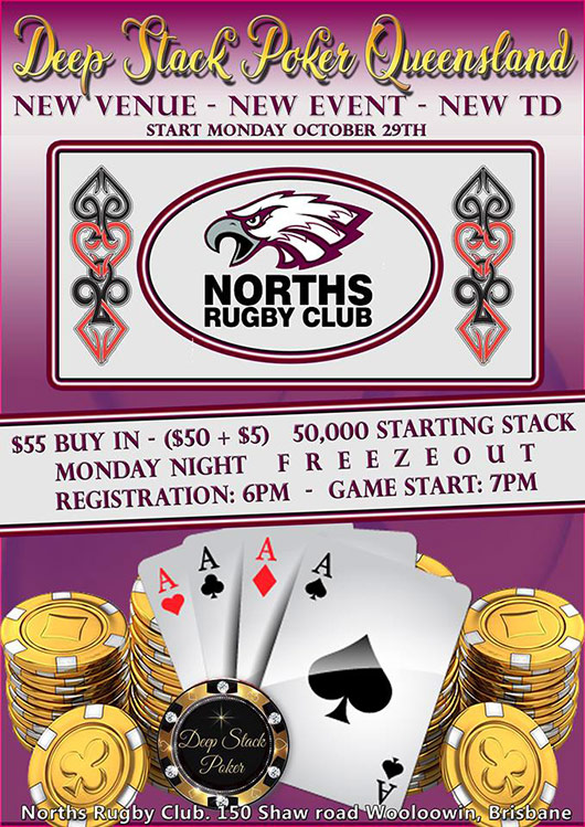 Norths Rugby Club Monday Poker Brisbane