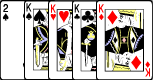 4 ofo a Kind Poker Hand