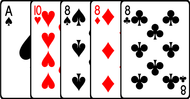 3 card poker 4 of a kind beats