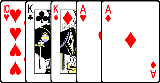 does three of a kind beat 2 pairs in poker